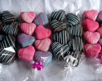 Cake Balls: Bitty Bit of Love Cake Bites 16 count. Valentines Day Gift