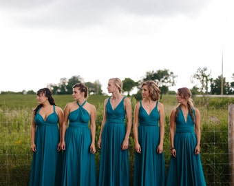 Infinity Convertible ANY Size/Length  hundreds of colors-made to order  french peacock smoky teal dusty blue oasis horizon malibu