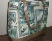 Peggy Tote - Beach Scenes with Embrace Recycled Leather