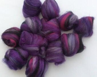 Electric Violet - handcarded batt-set 1.7 oz