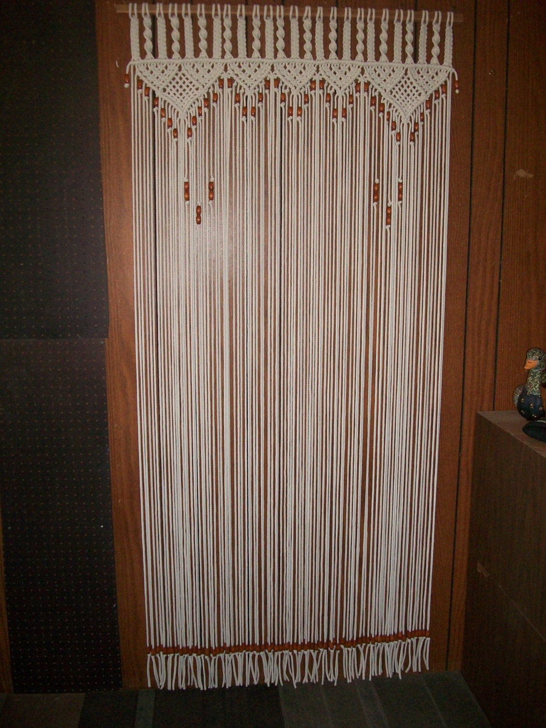 how to make macrame curtains curtain in macrame bead fringed door curtain with tie backs 5346