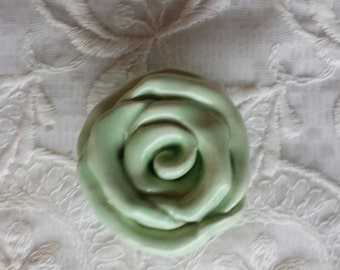 Rose Knobs Mint Green Drawer pulls  Hardware Home decor Price is for one