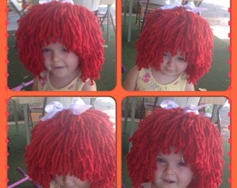 Raggedy Ann/ Andy Beanie/ Hat / Wig - Any Size