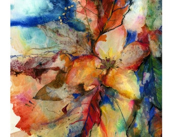 Into The Fall No. 1... Nature Autumn art archival print from original painting by Kathy Morton Stanion EBSQ
