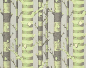 Tula Pink's Forest Stripe in Sprout Green, Bumble collection, Yard