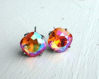 Sterling Silver and Swarovski Crystal Studs