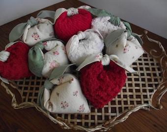 Vintage Chenille French Lavender Heart Sachet Sweet Gift