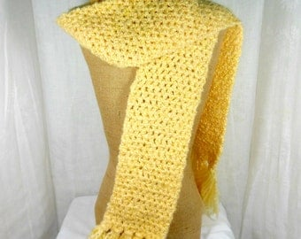 Womens knit scarf, yellow knit scarf, knit winter scarf, long winter scarf, hand knitted scarf, soft winter scarf, long skinny scarf