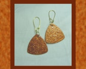 Textured, Reversible, Glittery Hand-Made Bronze Earrings