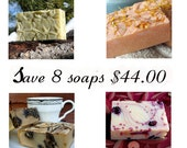 Goat milk soap - Save 10.00 with this 8-pack