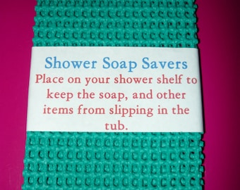 Shower Soap Savers Teal Green Set of 2