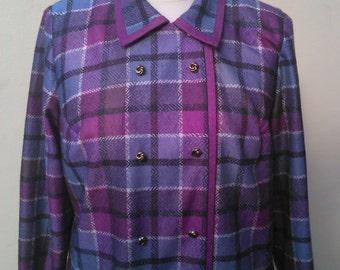 Vintage size 24 Purple Check Jacket Norman Linton