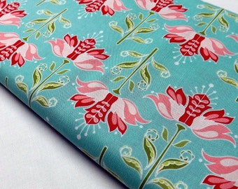 Riley Blake Designs C-2892 Apple of My Eye Blue Floral Print Quilting Craft Sewing Fabrics