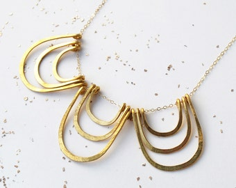 Three Golden Arches Necklace