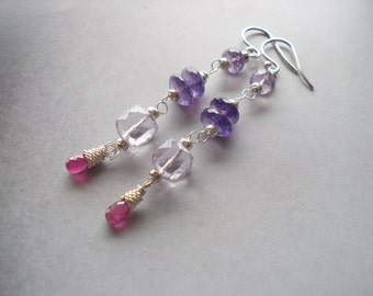 Lilac pleasure earrings