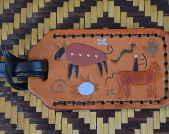 Luggage Tag with Petroglyphs