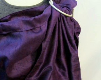 Ring Sling Silk Double Layer Dupioni Baby Carrier - Purple Pansy - DVD included