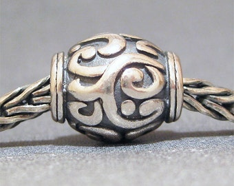 SMALL CORE Sterling Silver Big Hole Bead No. 21 Spacer European Charm Bracelet Bead