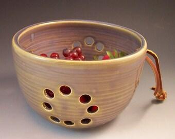 Pottery Berry Bowl / Colander / Fruit Strainer