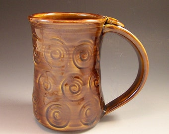 Pottery Beer Stein/Pottery Coffee Mug/Large Pottery Mug
