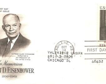 1969 First Day Issue Dwight D Esenhower