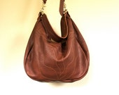 New//Josephine Hobo in Pebbled Toffee Brown Leather with Clip On Purse Strap