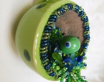 Turtle Tea Cup Necklace