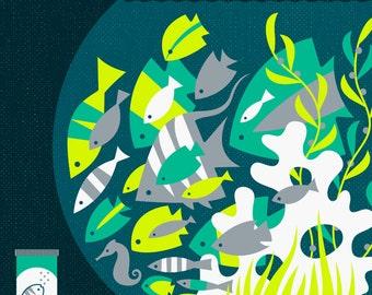 fish food limited edition print