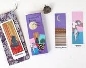 Nature's Cycles Card Set with free Draw String Bag - Batik