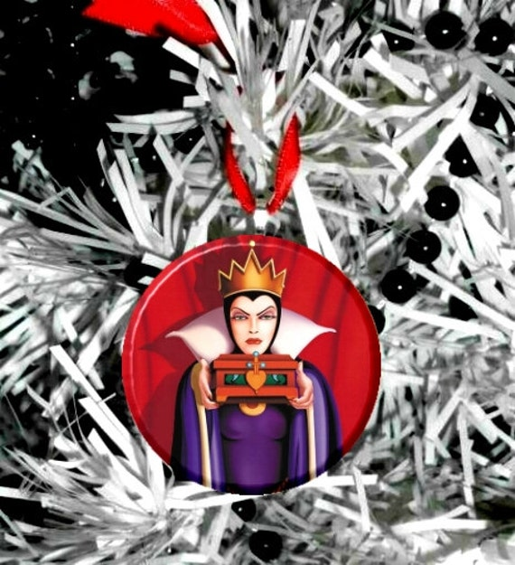 Evil Christmas Tree: Snow White Evil Queen Christmas Tree Ornament