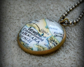 Istanbul Map Necklace