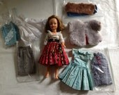 1960's Ideal Ginny Doll with Vogue fur Jacket & more Clothing