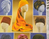 Sewing Pattern McCall's 4116 Misses Turbans, Headwraps, and Hats  Uncut Complete
