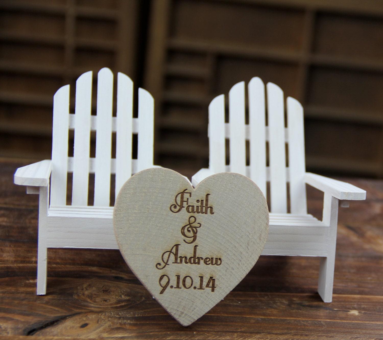 Adirondack Beach Wedding Chairs Beach by SpruceandHemlockco