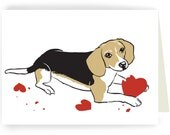 Bad Beagle - Single Greeted Card
