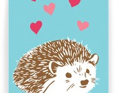 Hedgehog Valentine - Single Greeted Card