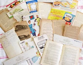 In the Kitchen...Crafty Lot of Vintage Paper Ephemera & Recipe Booklets
