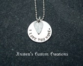 I Love You More Necklace Love You More I Love You More Jewelry Anniversary Gift Valentine Gift Mother's Day Ready to ship