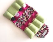 Essential oil case holds 8 oil carry bag Raspberry fabric