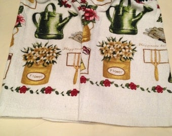 Gardening and Tools Print Towels set of 2