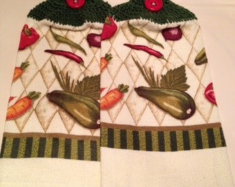 Vegetables  Print  Towel set of 2