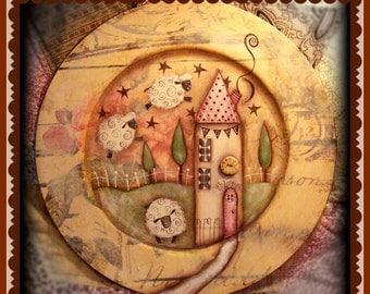 Apple Tree Cottage Original Design E Pattern  -  Little Spring Lambs