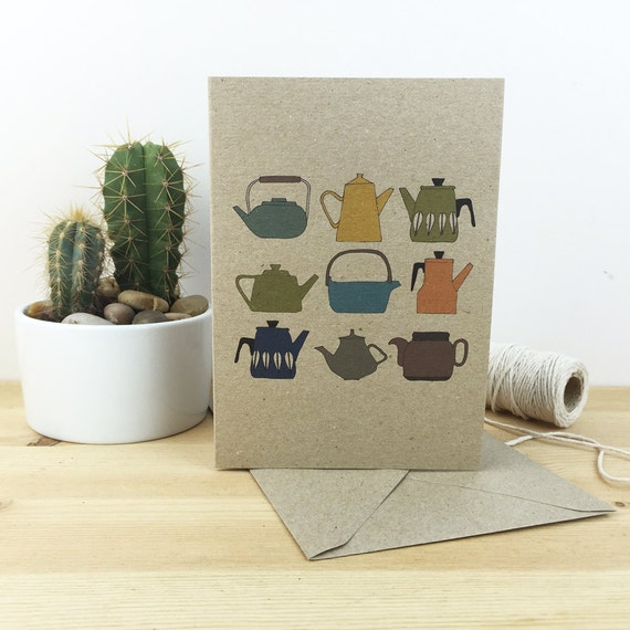 teapots card (100% recycled)