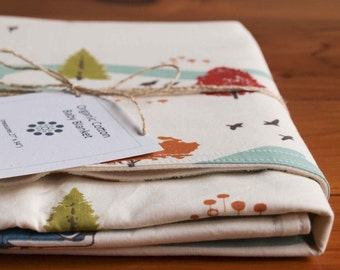 Camping Baby Blanket; Organic Cotton Receiving Blanket; Present for Newborn Baby Boy; Baby Shower Gift under 50; Feather River; (Last One)