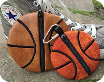 In the Hoop Basketball Pouches Set Machine Embroidery Design Files Instant Download