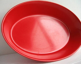Red Melmac Oval Bowl Melamine Oneida Deluxe Plastic Serving Bowl
