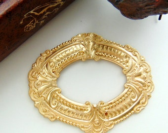 BRASS Art Nouveau Frame Stamping ~ Jewelry Ornament Findings (C-104) #