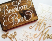 Bourbon Bar Wood Sign