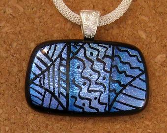 Zen Tangle Pendant - Dichroic Pendant - Fused Glass Pendant -Dichroic Zen Tangle - Dichroic Jewelry - Fused Glass Jewelry