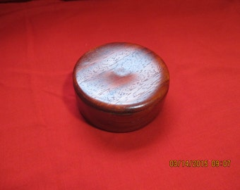 Handcrafted Padauk Wood Container with tight fitting lid